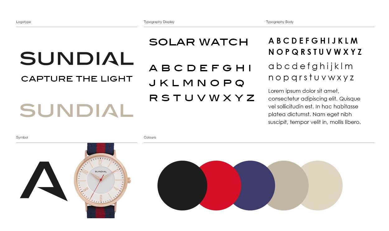 sundial watch logo design