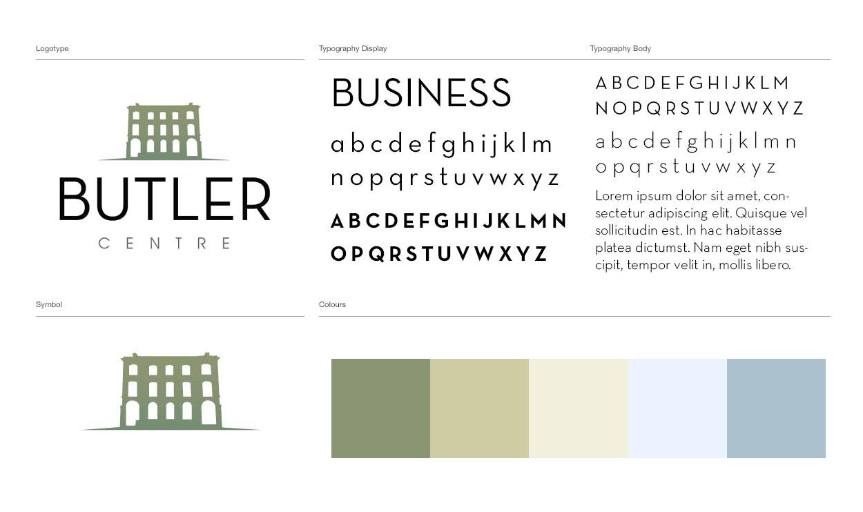 butler centre logo design kerry