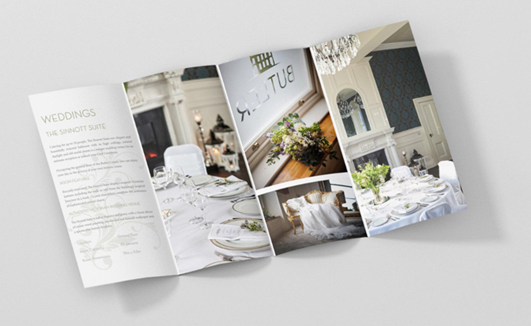 Wedding leaflet design
