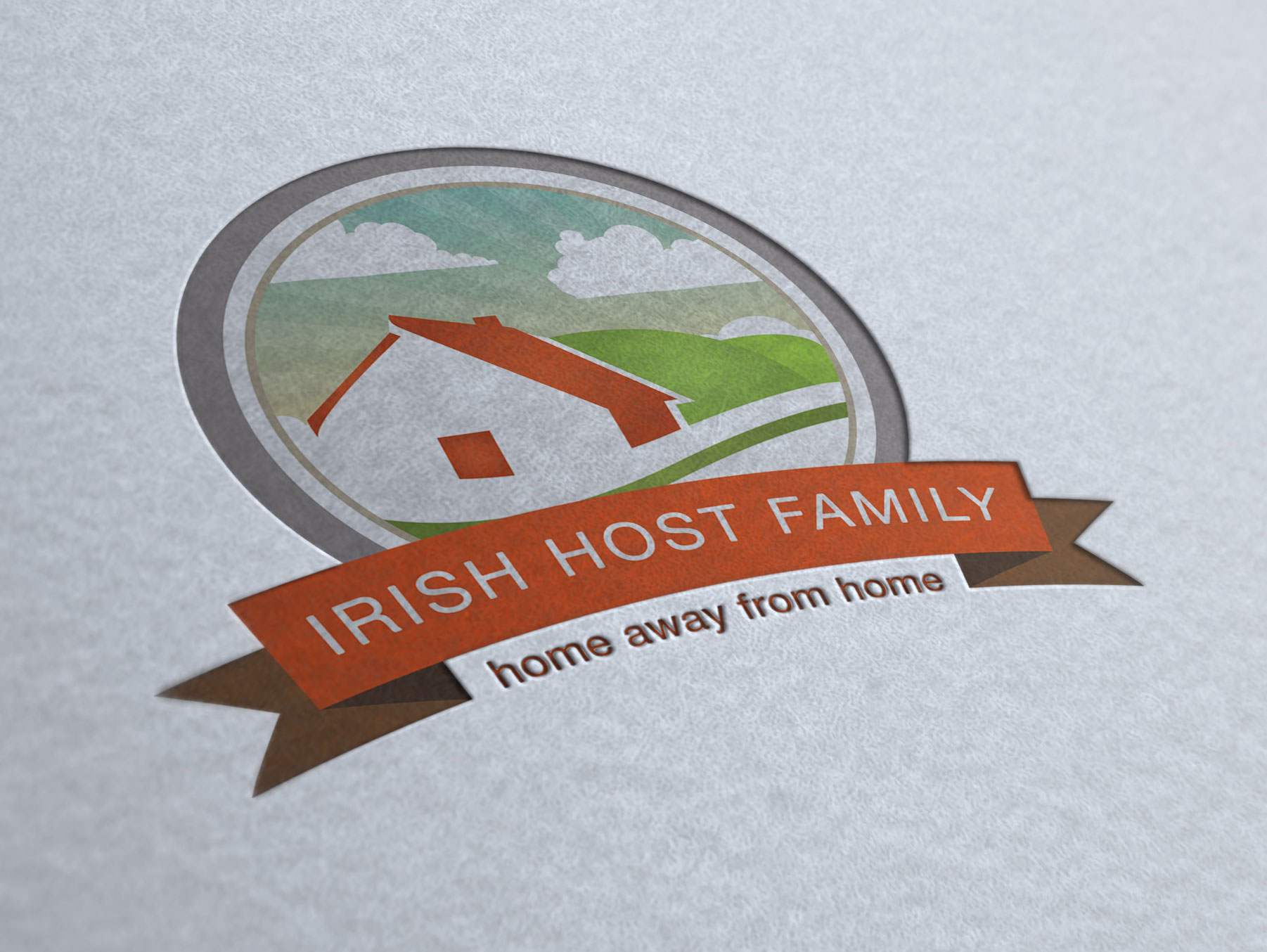 Irish Host Family logo design